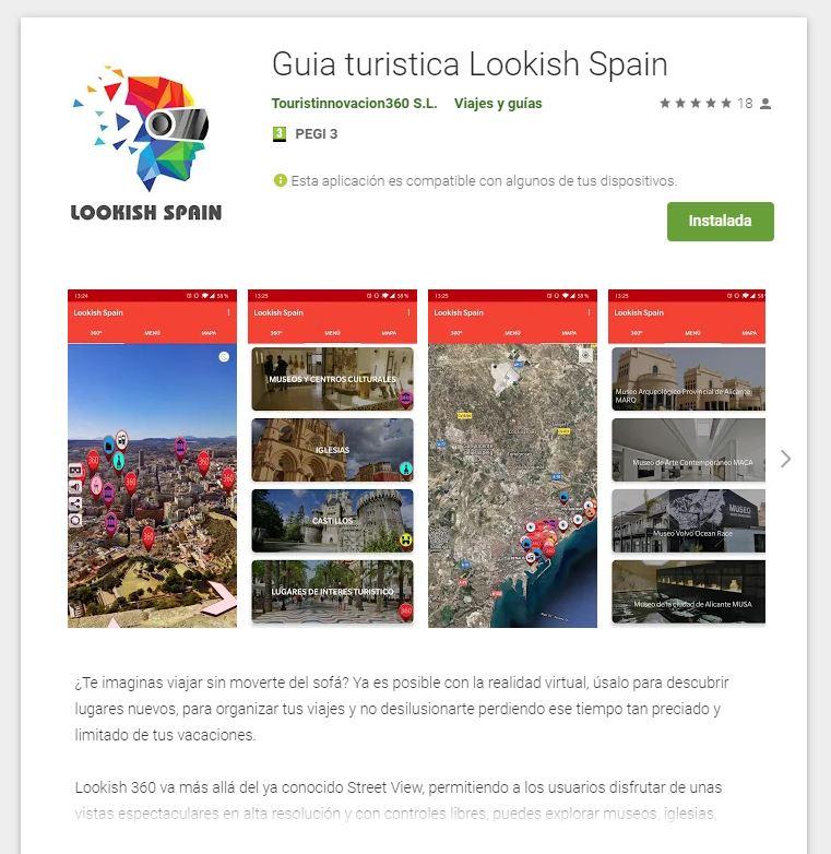 lookish spain turismo en 360