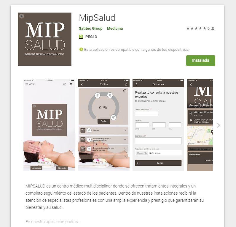 Aplicación de clínica de medicina integral - MipSalud